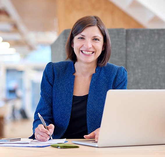 woman using IDeal software