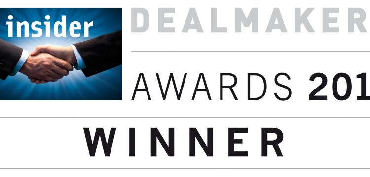 Dealmakers Awards 2013 winner