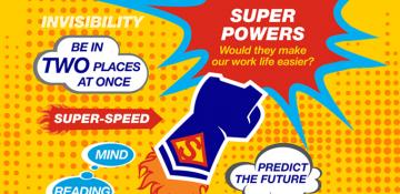 Superpowers infographic with statistics