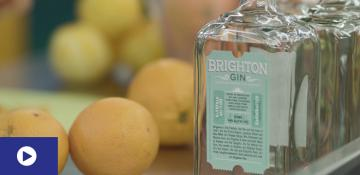 Oranges and bottles of Brighton Gin
